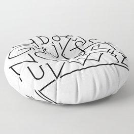 ABCD… Floor Pillow