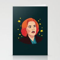 mulder Stationery Cards featuring Mulder No by fin apollo