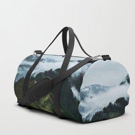 Foggy mountains Duffle Bag