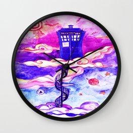 Tardis Art Imagine Cloud Wall Clock