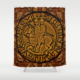 Medieval Seal of the Knights Templar Shower Curtain