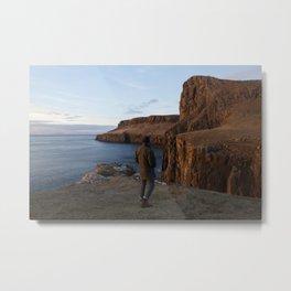 Golden Cliffs Metal Print