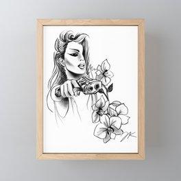 9MM Orchids Framed Mini Art Print