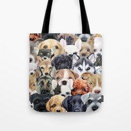 Dog All start, Dog illustration original painting print Tote Bag