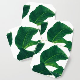 Green Leafs (Color) Coaster