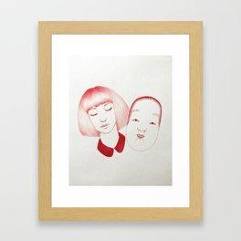 Noh Girl Framed Art Print