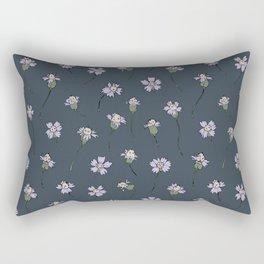 Dainty Wildflowers - Steel Blue & Lilac Rectangular Pillow