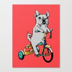 Frenchie Ride Canvas Print
