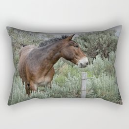 Mule in Wyoming Rectangular Pillow