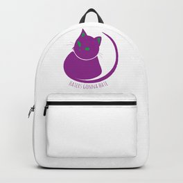 Haters Gonna Hate Cat Design Backpack