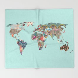 Louis Armstrong Told Us So (teal) Throw Blanket