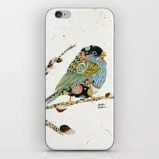 Cafe Swirly Bird 4 iPhone & iPod Skin