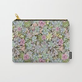 Succulent Pastel Carry-All Pouch