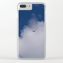 Eagle in the sky Clear iPhone Case