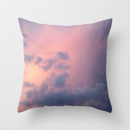 Peaceful Clouds Throw Pillow