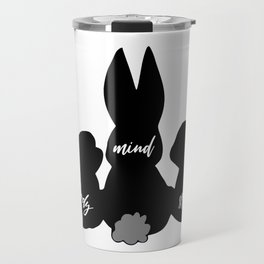 Three Bunnies Body Mind Spirit Travel Mug