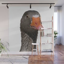 A Wise Duck Takes Care Of Its Bill Wall Mural