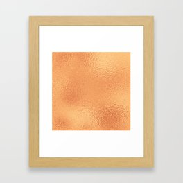 Simply Metallic in Copper Framed Art Print