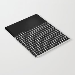 Dotted Grid Boarder Black Notebook
