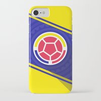 colombia iPhone & iPod Cases featuring Seleccion Colombia by DAN LOZ
