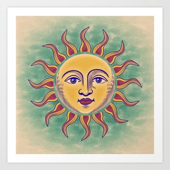 Soleil 2 Art Print