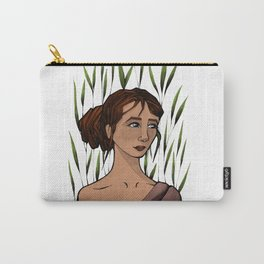 Girl with palm leaves Carry-All Pouch