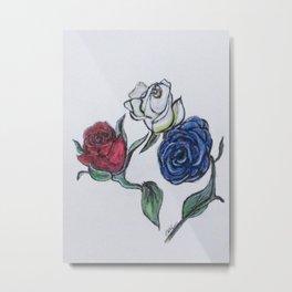 July 4th Roses Metal Print