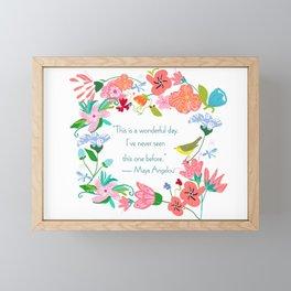 WonderfulDay Framed Mini Art Print