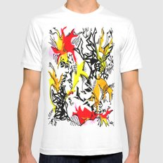 Dragons Mens Fitted Tee White MEDIUM
