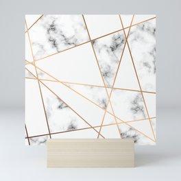 Marble Geometry 054 Mini Art Print