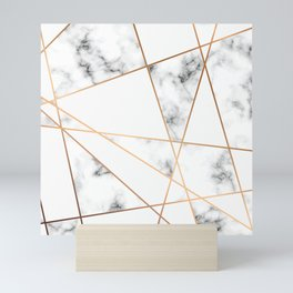 Marble Geometry 054 Mini Art Print