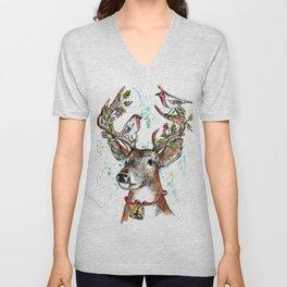 Deer head Christmas Unisex V-Neck