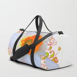 SPRING DAFFODIL SCROLLS ART GARDEN PATTERN Duffle Bag