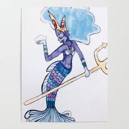 Mermaid Goddess Poster