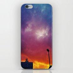 Rainbow clouds iPhone & iPod Skin