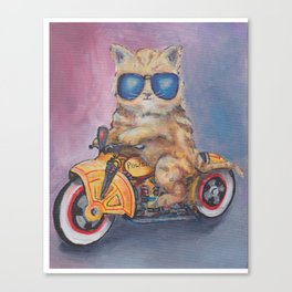 Kitty Cop Canvas Print