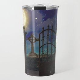Graveyard #5 * cemetary scary spooky tombstone creepy Travel Mug