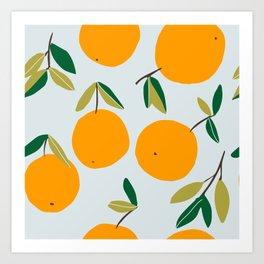 Orange Neck Gaiter Orangese Neck Gator Art Print