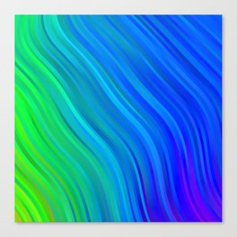 stripes wave pattern 1 stdv Canvas Print