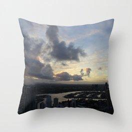 Golden sunsets Throw Pillow