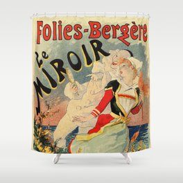French belle epoque mime theatre advertising Shower Curtain