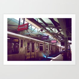 Chicago Transit Art Print