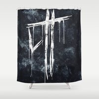 last of us Shower Curtains featuring The Last Of Us Hunters (White) by Some_Designs