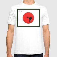 Art Of Karate Print White Mens Fitted Tee MEDIUM