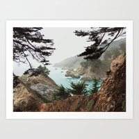 big sur Art Prints featuring Big Sur by Kyle Meck
