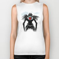 magritte Biker Tanks featuring Ryuk Magritte by le.duc