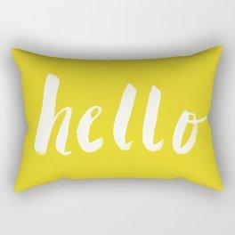 Hello x Sunshine Script Rectangular Pillow