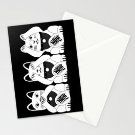 Three Smart Cats Stationery Cards