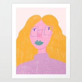 Working Girl Art Print