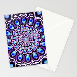 Turquoise Iterations: Sprinkles of Amethyst Stationery Cards